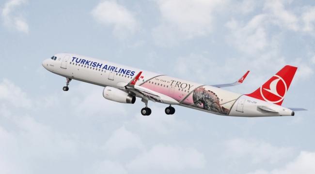 """Türk Hava Yolları'nın """"Troya"""" sı dünyayı dolaşacak"""