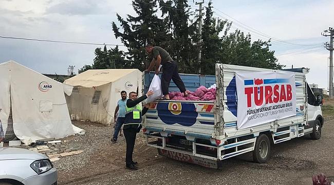 TÜRSAB'dan depremzedelere yardım