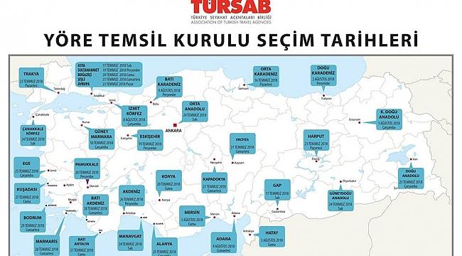 TÜRSAB'ın Yöre Temsil Kurulu seçimleri başlıyor