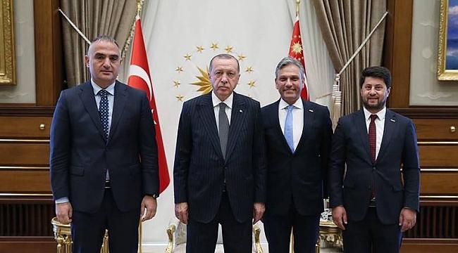 Cumhurbaşkanı Erdoğan, Firuz Bağlıkaya'yı kabul etti