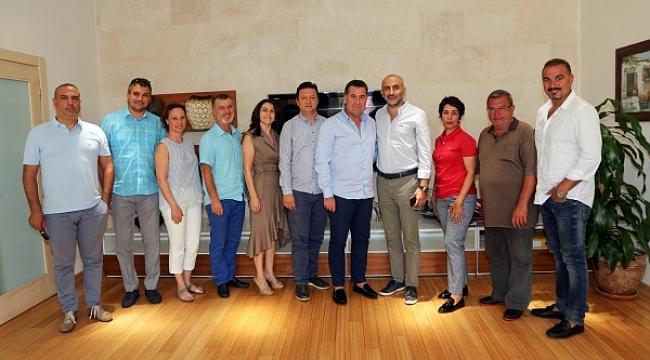 TÜRSAB Bodrum YTK'dan  Başkan Kocadon'a ziyaret