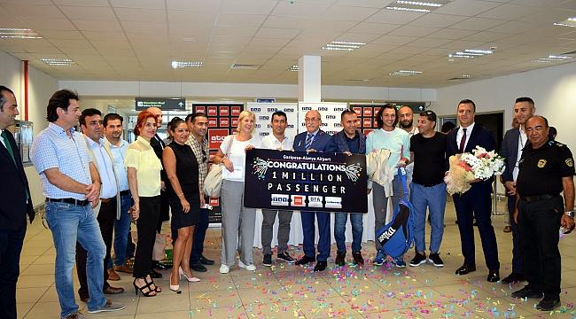 Gazipaşa 1 milyonuncu yolcuyu karşıladı!