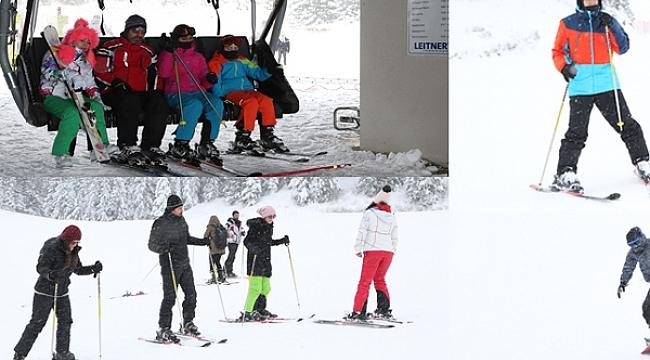 Çambaşı kayakseverlerin gözdesi oldu