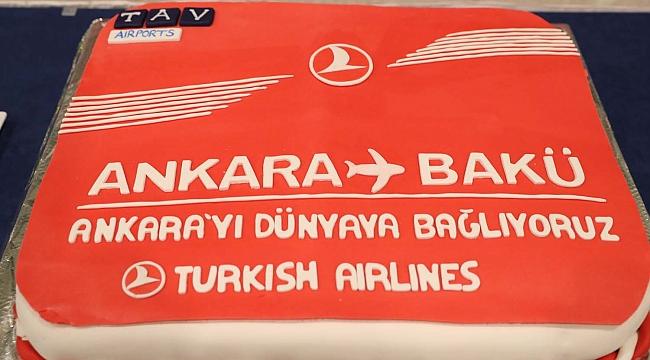 Ankara'dan Bakü'ye haftada 3 gün uçuş