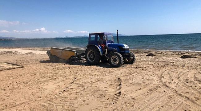 Ayvalık'ta plajlar yeni sezona hazırlanıyor