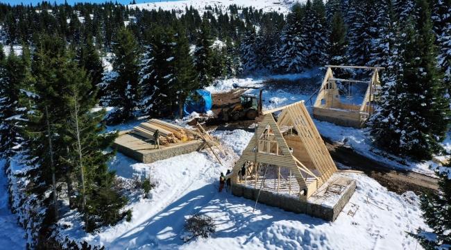 Çambaşı Yaylası'na 12 bungalov ev yapılıyor