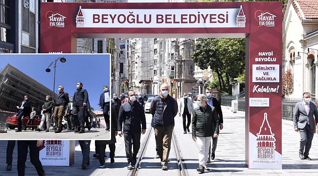 Bakan Ersoy, 'Beyoğlu Kültür Yolu' çalışmalarını inceledi