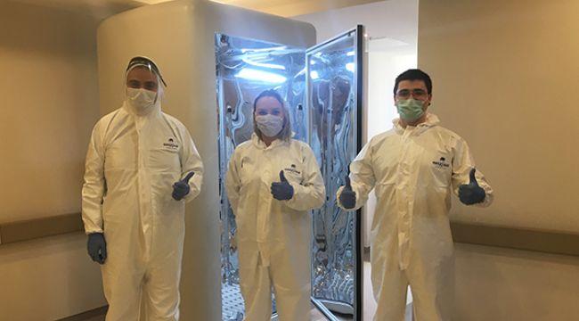 Havalimanları için koronavirüs dezenfeksiyon kabini