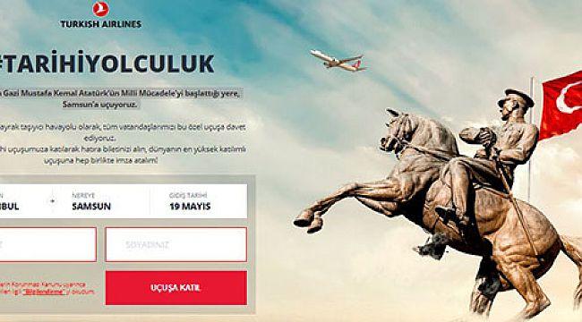 THY'den 19 Mayıs'ta Samsun'a ''Tarihi Yolculuk''