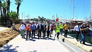 Bodrum limanı yenilenen yüzü ile turistleri karşılayacak