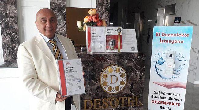 Tekirdağ'ın ilk ''Güvenli Turizm Sertifikalı'' oteli