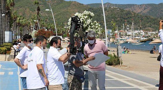 Başkan Marmaris'in tanıtımı için kamera karşısına geçti