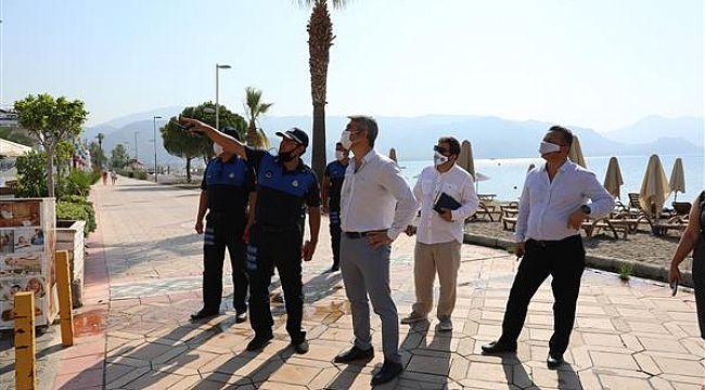 Oteller ve plajlar bölgesindeki işletmeler uyarıldı