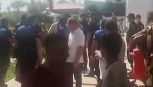 Çalışanlar otelin mühürlenmesine tepki gösterdi