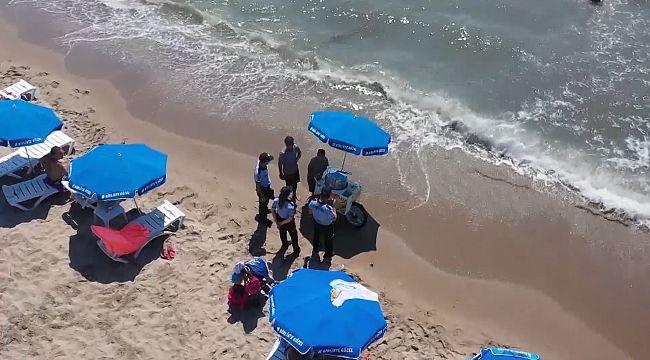 Kuşadası sahillerine Drone ile takip