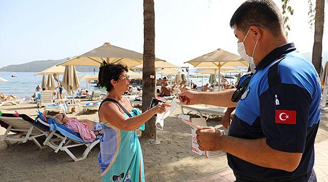 Turistlere maske uyarısı