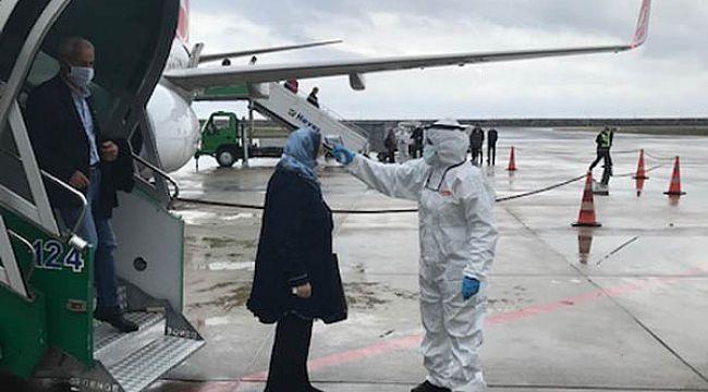 Havalimanı'nda bulaşıcı hastalık tatbikatı