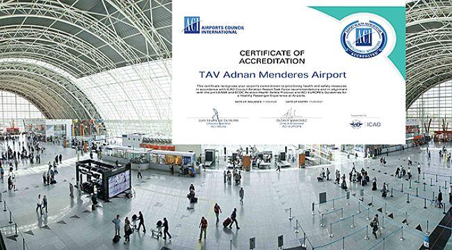 İzmir Adnan Menderes ACI pandemi sertifikasını aldı