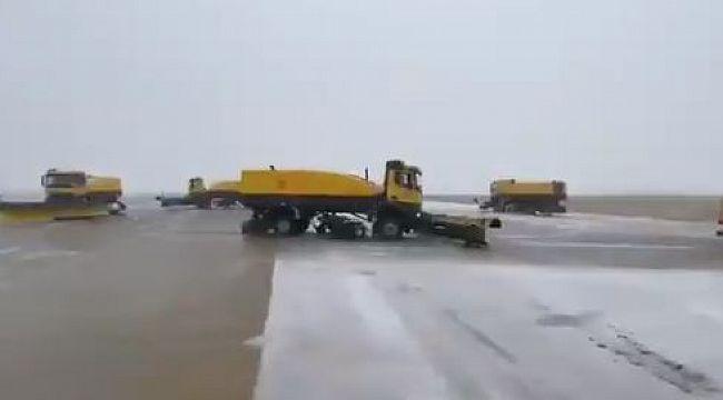 DHMİ havalimanlarında 700 personelle karla mücadele