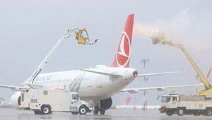 THY uçaklarına soğuktan koruma