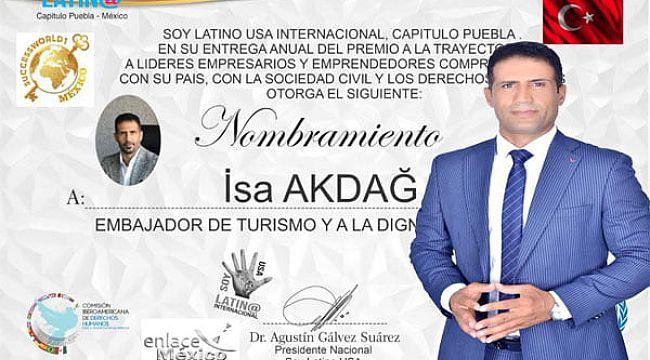 Akdağ'a ''Turizm Kültür Elçisi'' ödülü