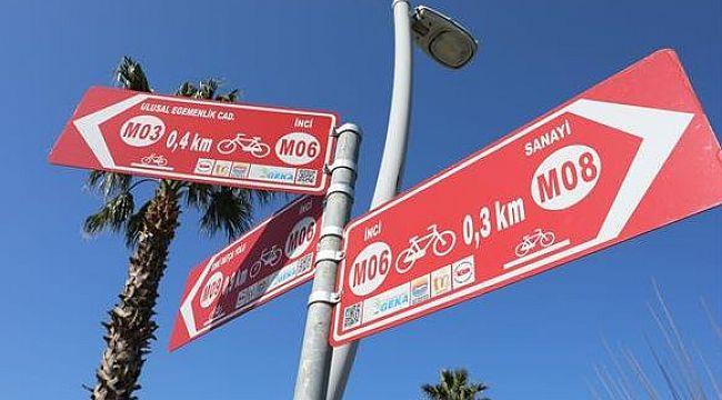Bisiklet Rotası'nın tabelaları yenileniyor