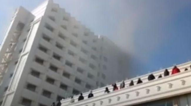 4 yıldızlı otelde yangın paniği