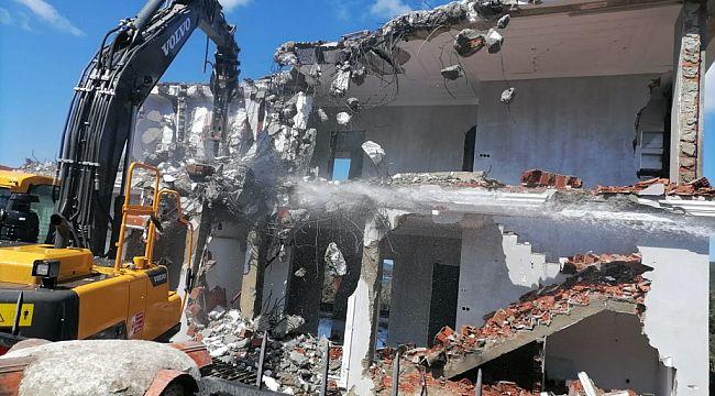Bodrum'da kaçak yapılarla mücadele sürüyor