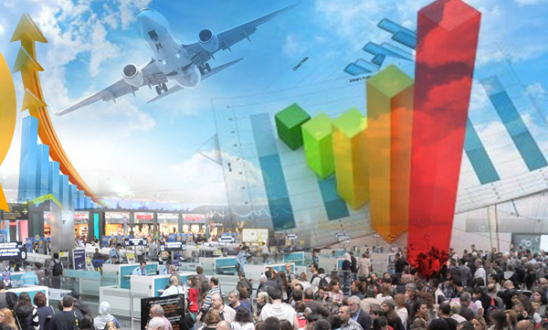 Turizm bölgelerindeki havalimanlarının  şubat ayı rakamları açıklandı